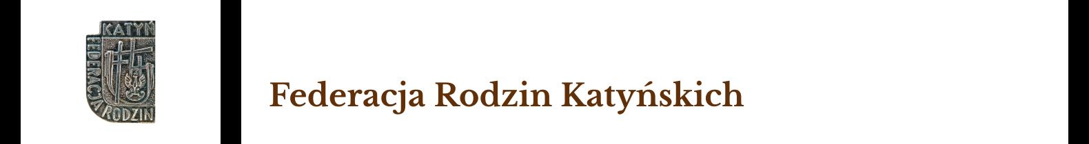Federacja Rodzin Katyńskich