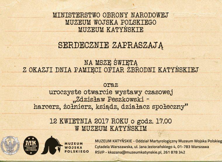 Zaproszenie do Muzeum Katyńskiego